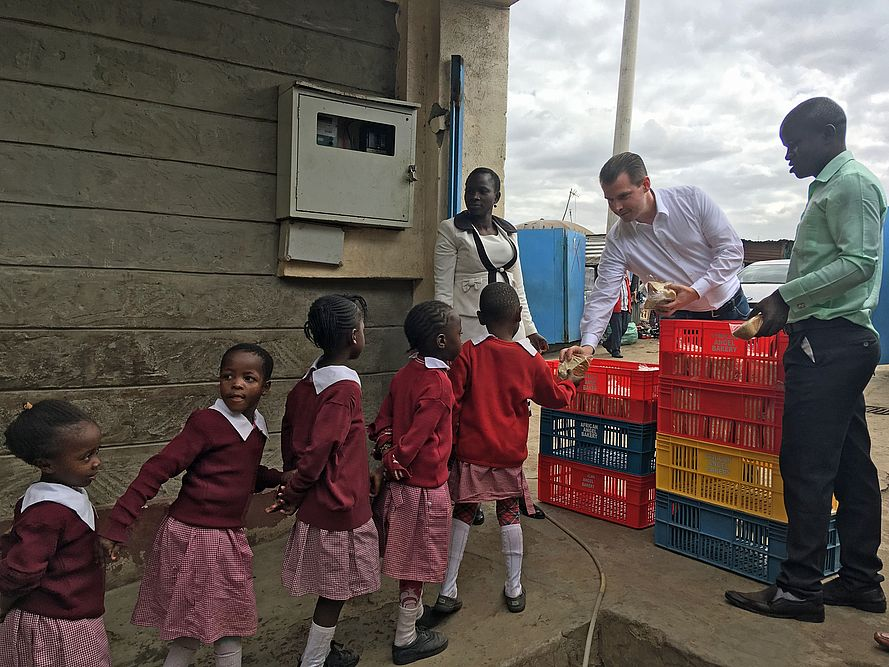 24 schools and about 2,800 children are supplied with sandwich bread daily.