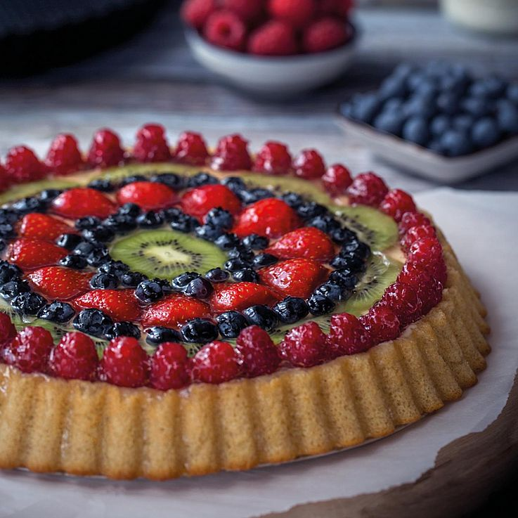 backaldrin, Feinbackwaren, Urkorn-Obstkuchen, UrkornKuchen Mix